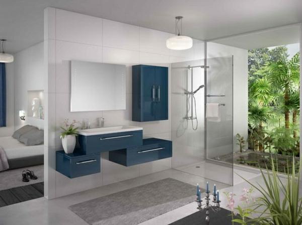 best salle de bains deco mer beige bleu images. Black Bedroom Furniture Sets. Home Design Ideas