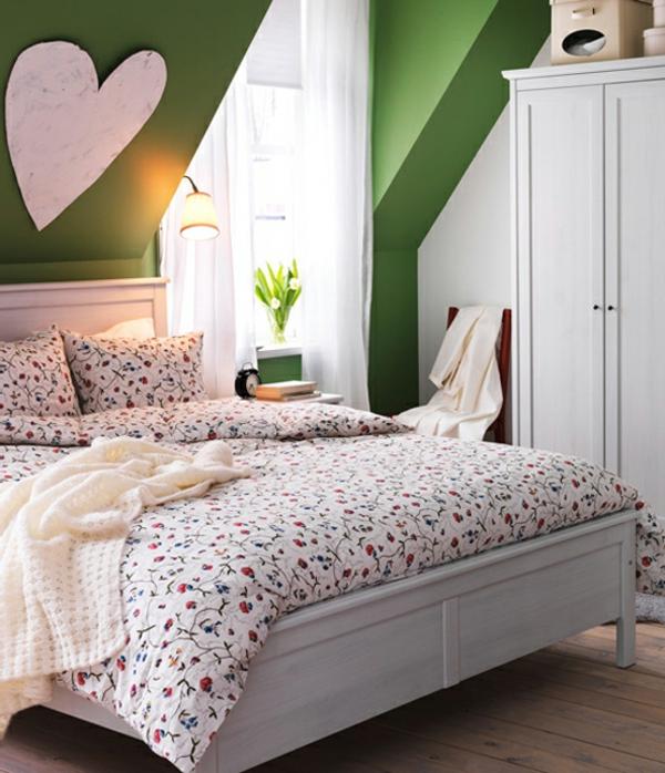 blanc-et-vert-lit-meuble-moderne