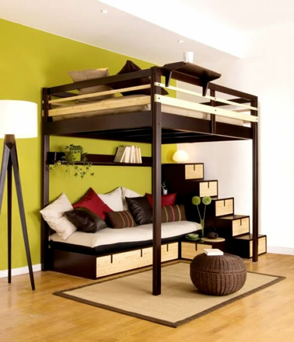 chambre-à-coucher-lit-mezzanine