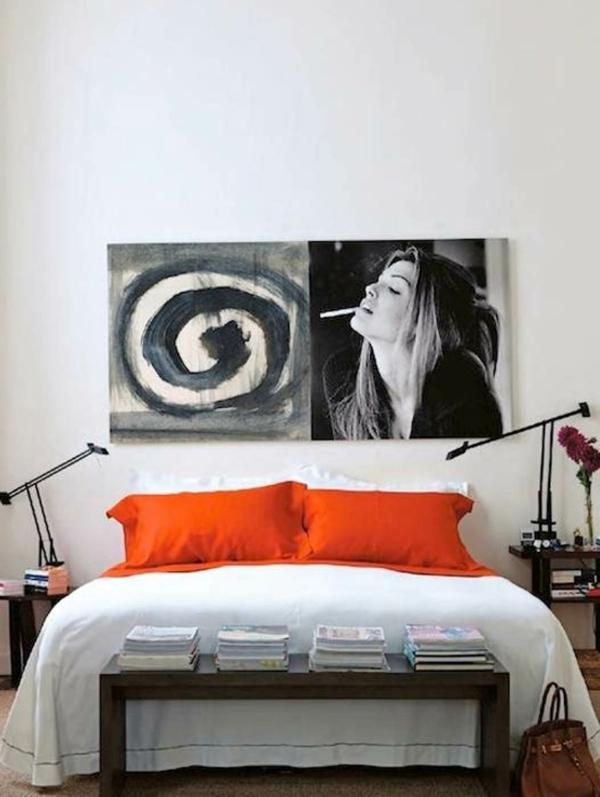 chambre-contemporaine-lit-rouge-blanc-painture