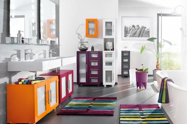 décoration-salle-de bain-colorée
