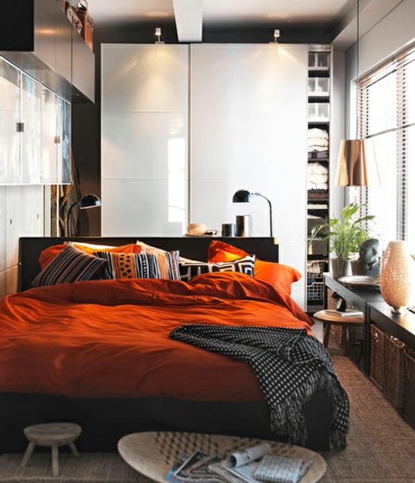 ikea-piaule-chambre-ac-coucher-orange--des-coussin