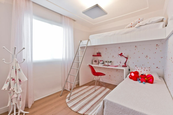 Idee Deco Chambre Ado Loft : Mezzanine Chambre De Bonneet rouge lit mezzanine pour enfant