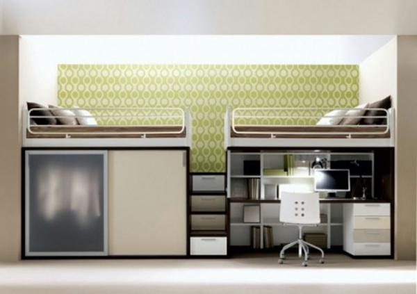 lit-mezzanine-vert-claire-beige-chambre-a-coucher-deco