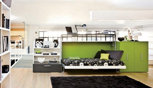 Chambre coucher 103 grandes id es - Meuble pratique pour petit espace ...
