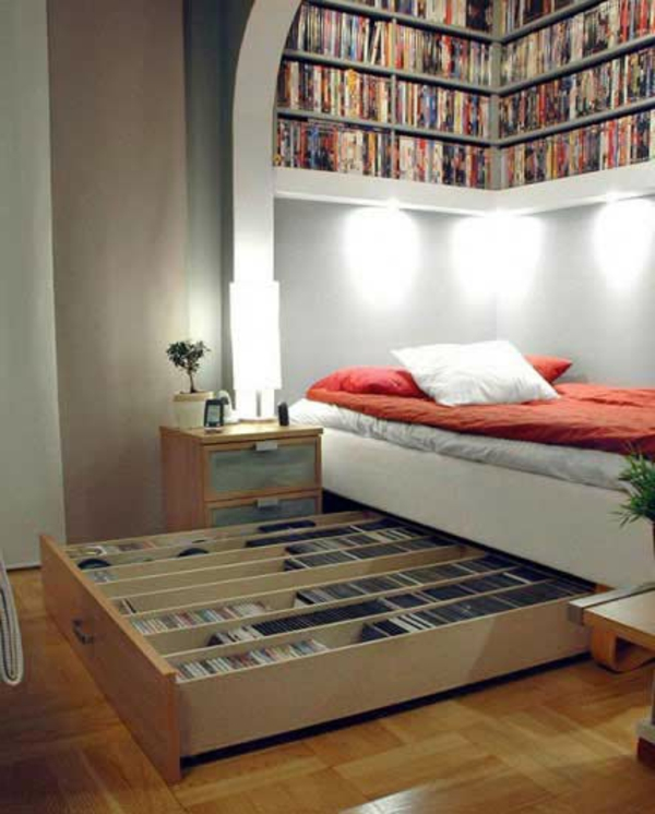 petite-chambre-a-coucher-décoration-modele