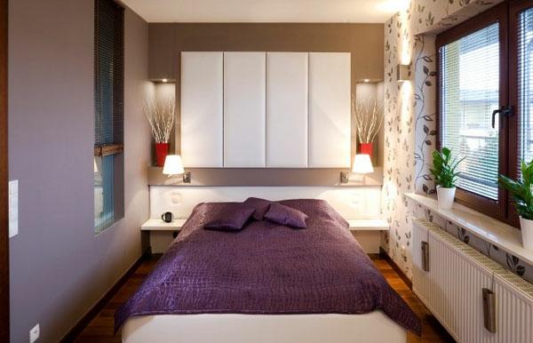 petite chambre a coucher deco violet lit - Chambre A Couche Petite