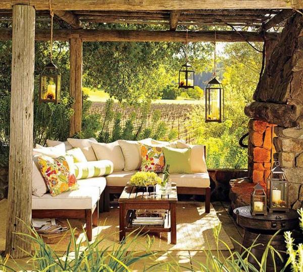 décoration de salon de jardin
