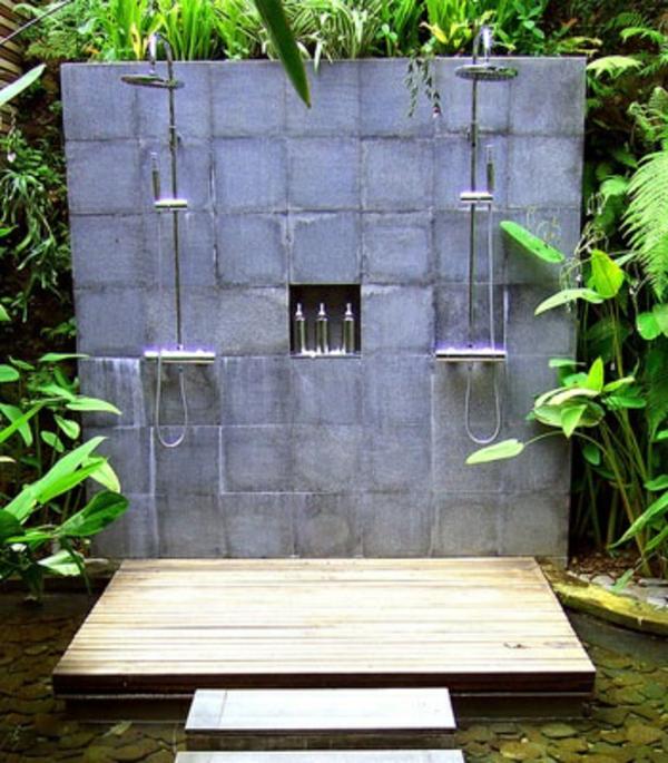 Salle de bain zen le printemps est l for Salle de bain exotique