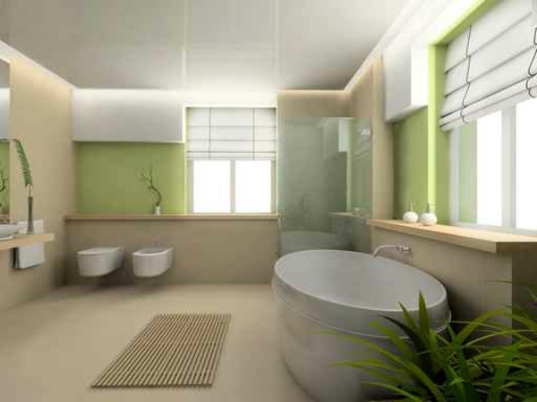Awesome Salle De Bain Verte Et Blanche Contemporary - Amazing House ...