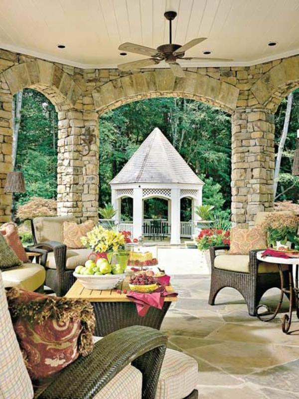 Accessoire Salle De Bain Inox : Les pierres vont bien pour le salon de jardin, comme ça c`est