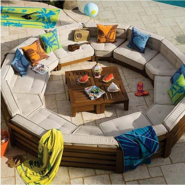 Salon De Jardin En Rotin Noir : atour de la piscine il y a toujurs des amies et des couleurs frais
