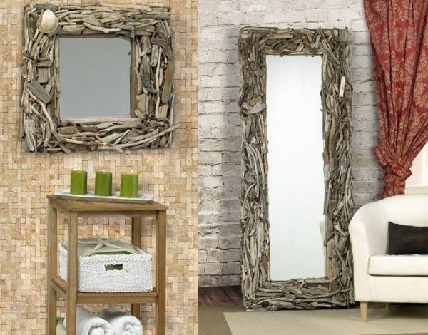 Le grand miroir mural 25 id es pour d 39 arrangement et for Grand miroir encadrement bois