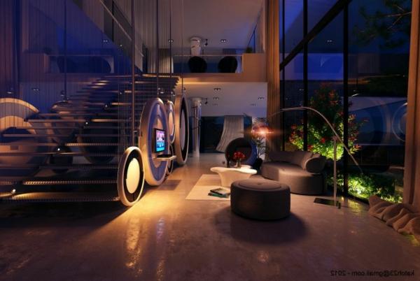 21 id es d co salon aux couleurs et mat riels naturels bois for Deco contemporaine salon