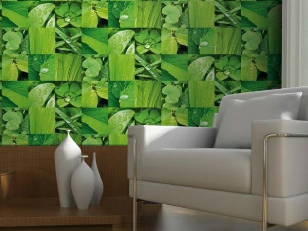 Papier-peint-végétal-feuilles-et-herbes-
