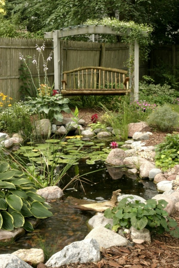 1000 images about garden ponds fountains on pinterest for Banc jardin pierre