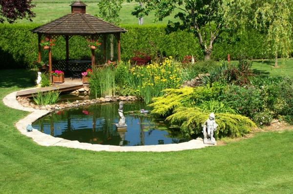 bassin-pour-jardin-élégant-pavillon