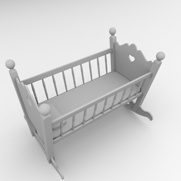 berceau-gris-pour -un-bébé