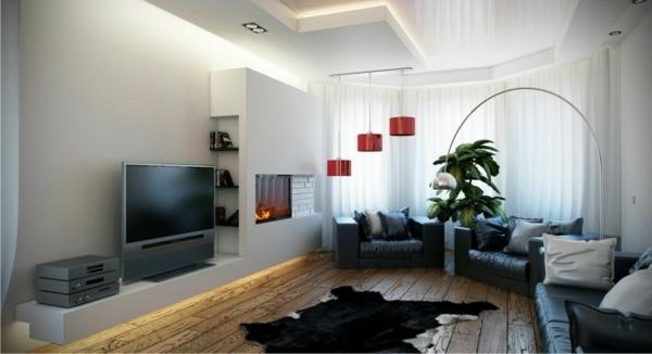 21 id es d co salon aux couleurs et mat riels naturels bois - Idee deco peinture salon moderne ...