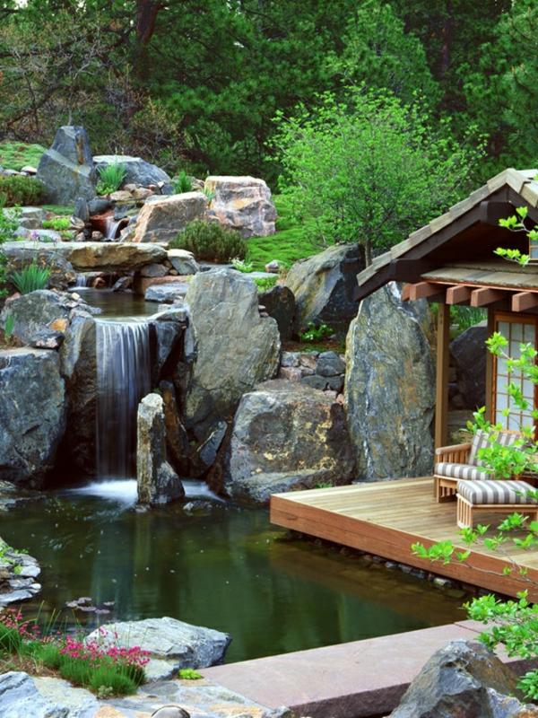 Cascade et fontaine de jardin 69 d co pour les moments for Fontaine bambou exterieur