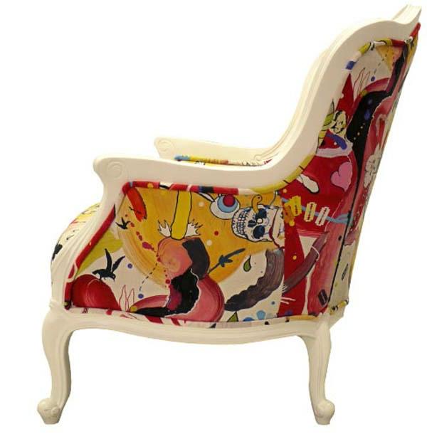 chaise-moderne-fleur