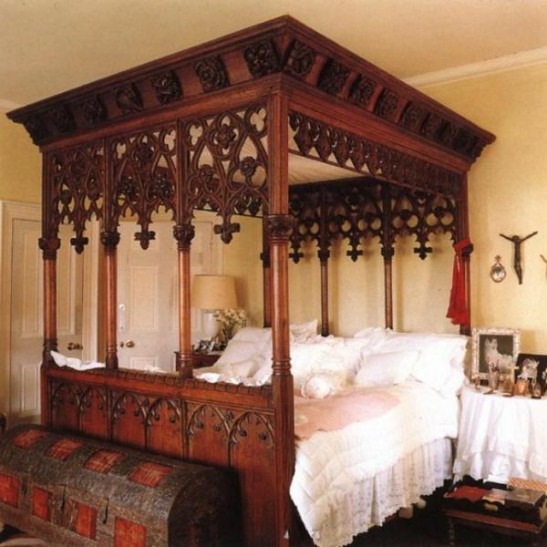 Impressionnant d co pour chambre coucher adulte style gotique for Chambre romantique rouge