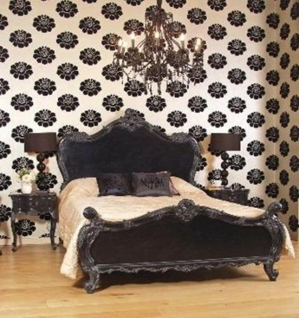 chambre-à-coucher-adulte-style-gotique-contemporain-blanc-noir