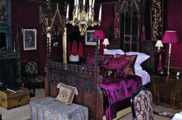 impressionnant d co pour chambre coucher adulte style gotique. Black Bedroom Furniture Sets. Home Design Ideas