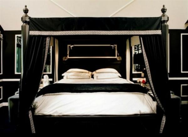 chambre-à-coucher-adulte-style-gotique-simple-noire-blanc
