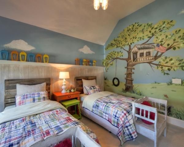 chambre-à-coucher-enfant-bois