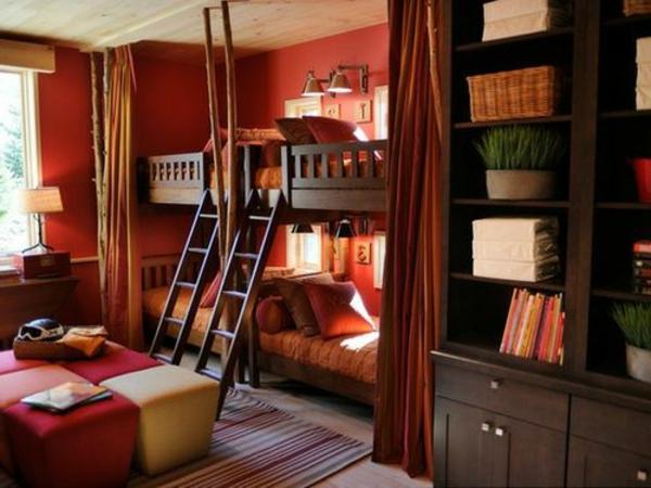 cool-idées-déco- chambre-garçon-superposées-deux-lits