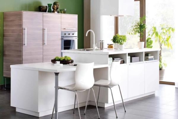 Lot central cuisine ikea et autres l 39 espace de cuisson for Cuisine ilot blanc