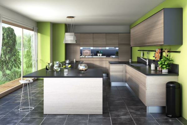 Une cuisine lapeyre mod le de style et confort for Cuisine verte