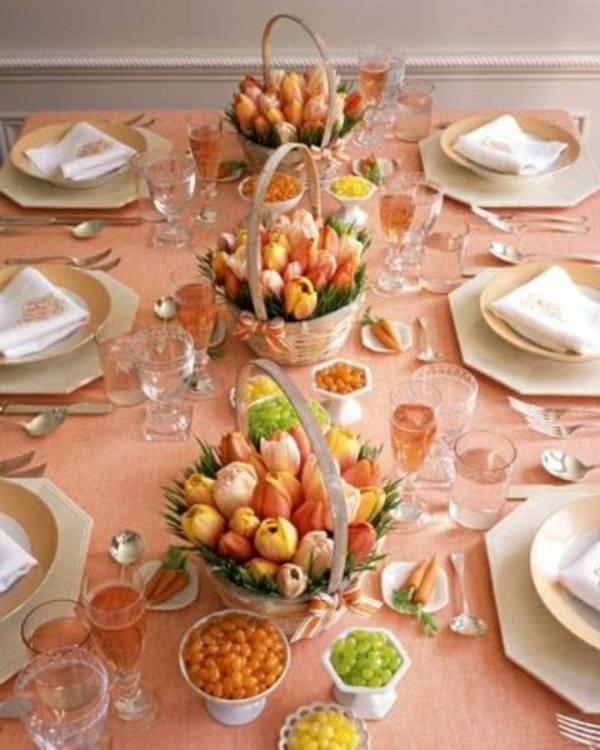 décorer-une-table-tulipes-oranges