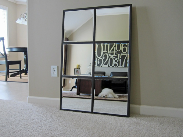 grand miroir contemporain. Black Bedroom Furniture Sets. Home Design Ideas