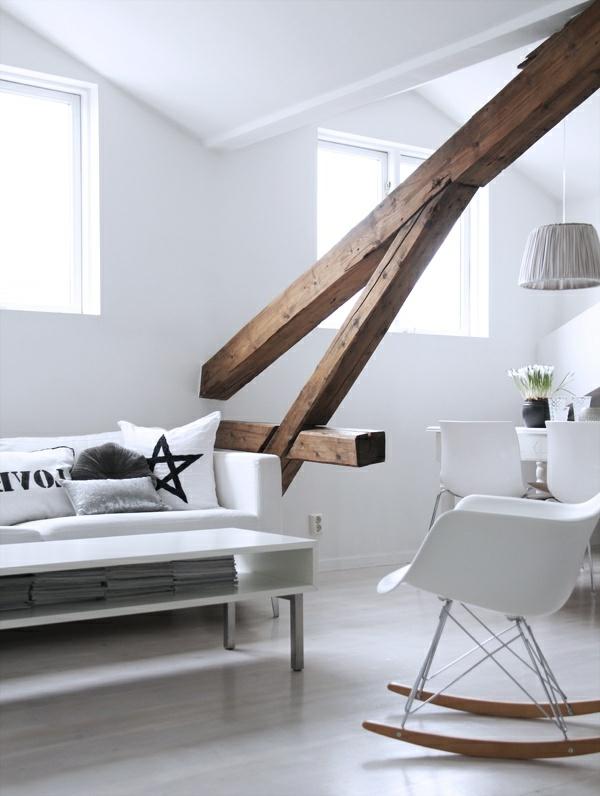 Le style d co nordique dans l 39 int rieur contemporain - Maison nordique prix ...