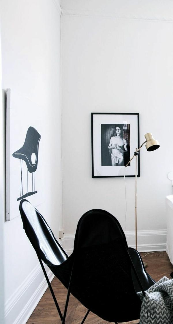 deco-nordique-chaise-noir-sticker-mural-peinture