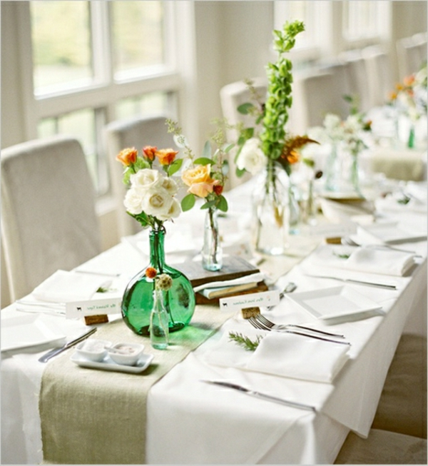 decoration-composition-fleurs-blanche-table-