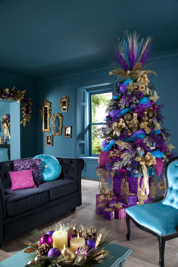 decoration-unique-sapin-de-noel-violet