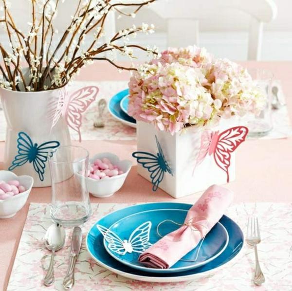 decorer-tablefleurs-papillons-