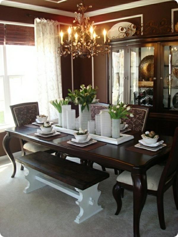 decorer-une-table-blanc-et-bru