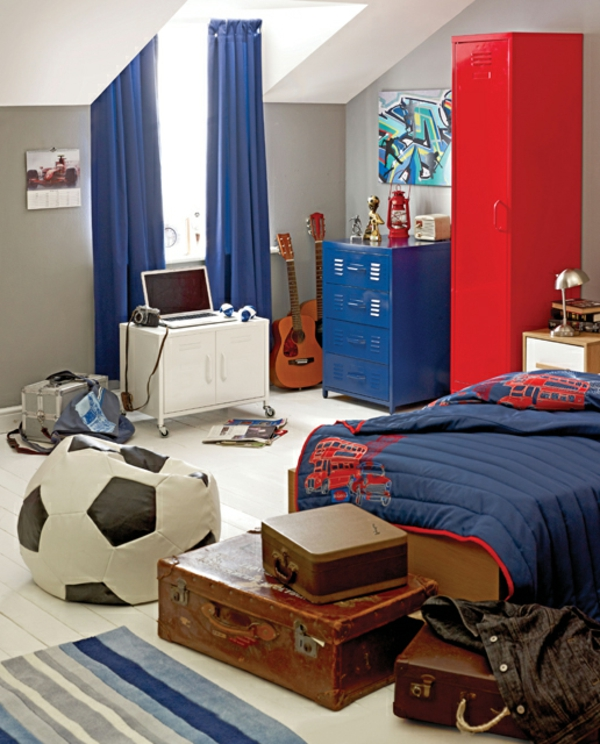 football-idées-déco- chambre-garçon