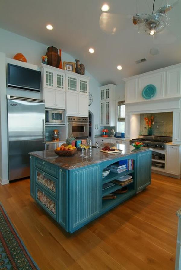 Lot central cuisine ikea et autres l 39 espace de cuisson for Cuisine bleu bois