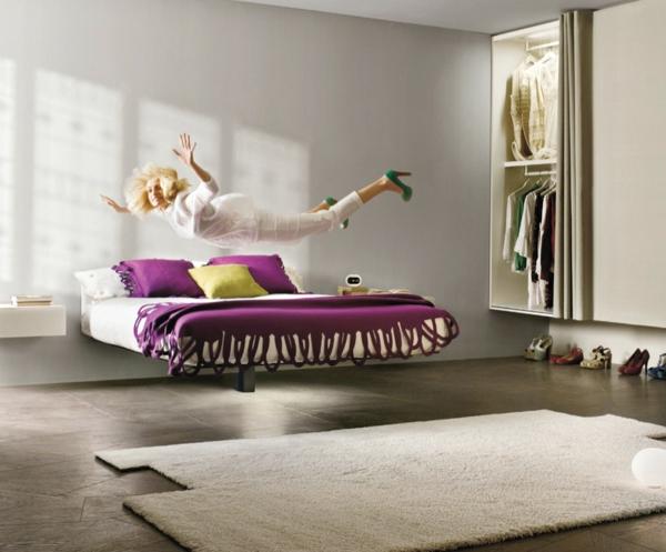 Le lit suspendu et ses modifications différents - Archzine.fr