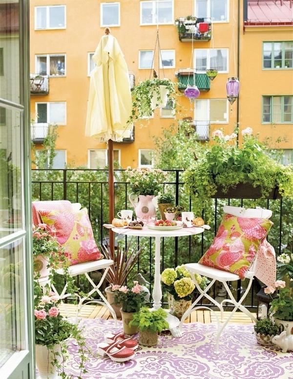 L 39 am nagement d 39 un petit balcon id es pour la petite place verte - Amenagement balcon appartement ...