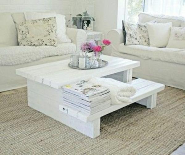 Construire table basse palette r cup et d co simpa - Table basse palette blanche ...