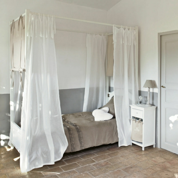 Le lit baldaquin enfant comment faire la d co pour la chambre - Lit a baldaquin blanc ...