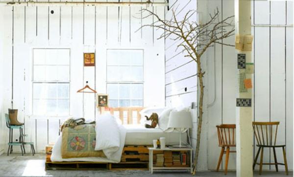 Lit Bebe Bois Palette : R?cup palettes- 34 chambres ? coucher- la t?te de lit palette