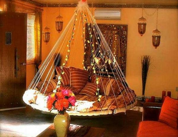 Le lit suspendu et ses modifications diff rents - Chambre style oriental ...
