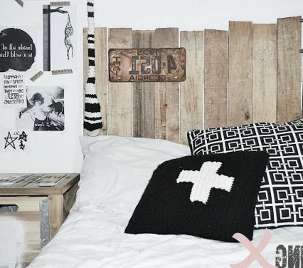 R cup palettes 34 chambres coucher la t te de lit palette - Tete de lit rustique ...